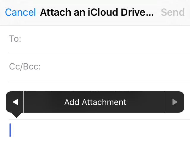 email attachment from icloud drive