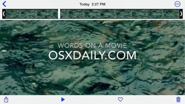 How to add text to video with iMovie on iPhone