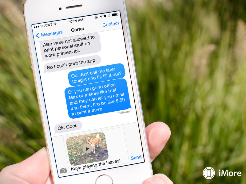 How to send videos using iMessage