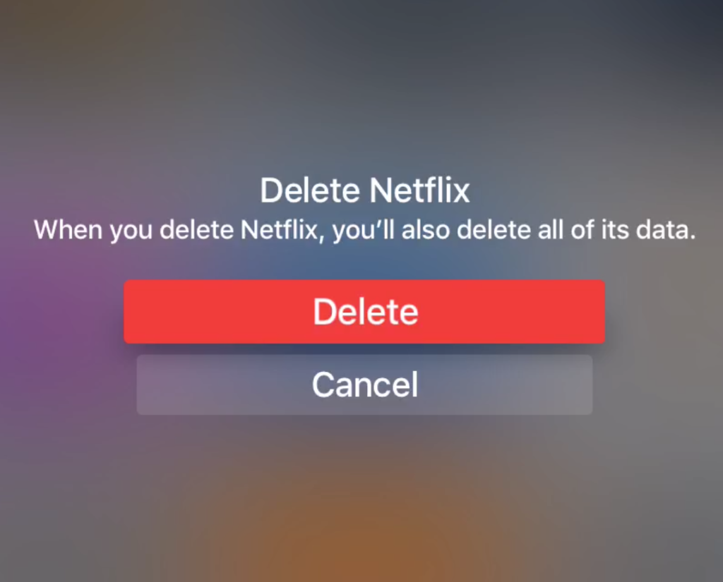 Delete Apps Apple TV