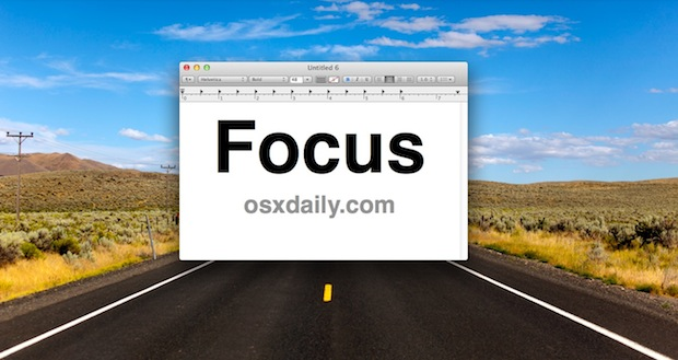 Instant focus mode by hiding everything else except the current app or window in Mac OS X