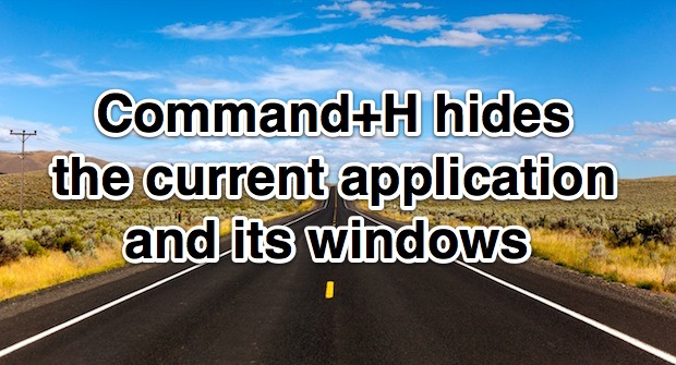 Hide the current application and windows instantly