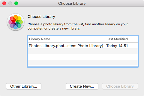 OS X El Capitan Photos Choose Library Mac screenshot 004