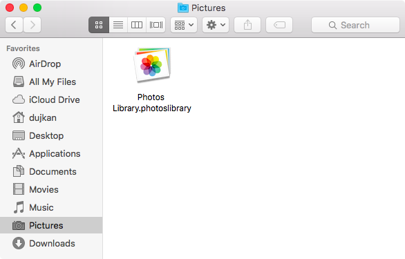 OS X El Capitan Photos library in Finder Mac screenshot 002