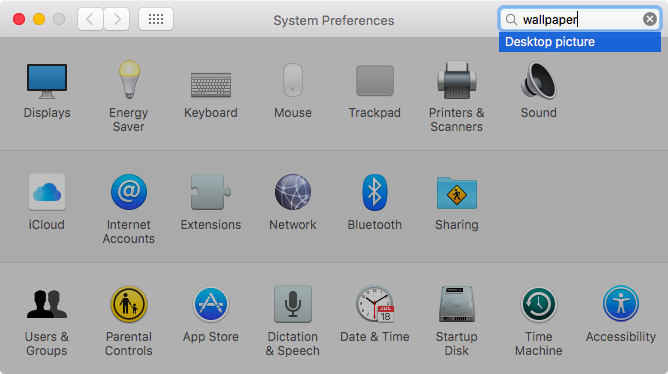 OS X El Capitan System Preferences search Mac sceenshot 005