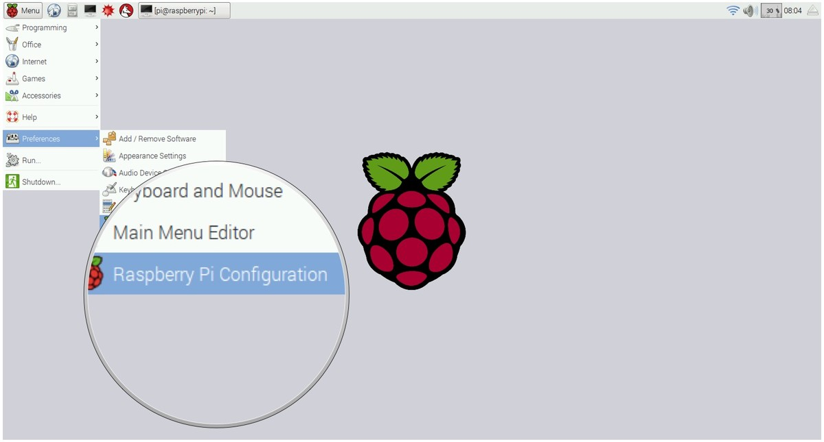 Selecting reconfig in Raspberry Pi