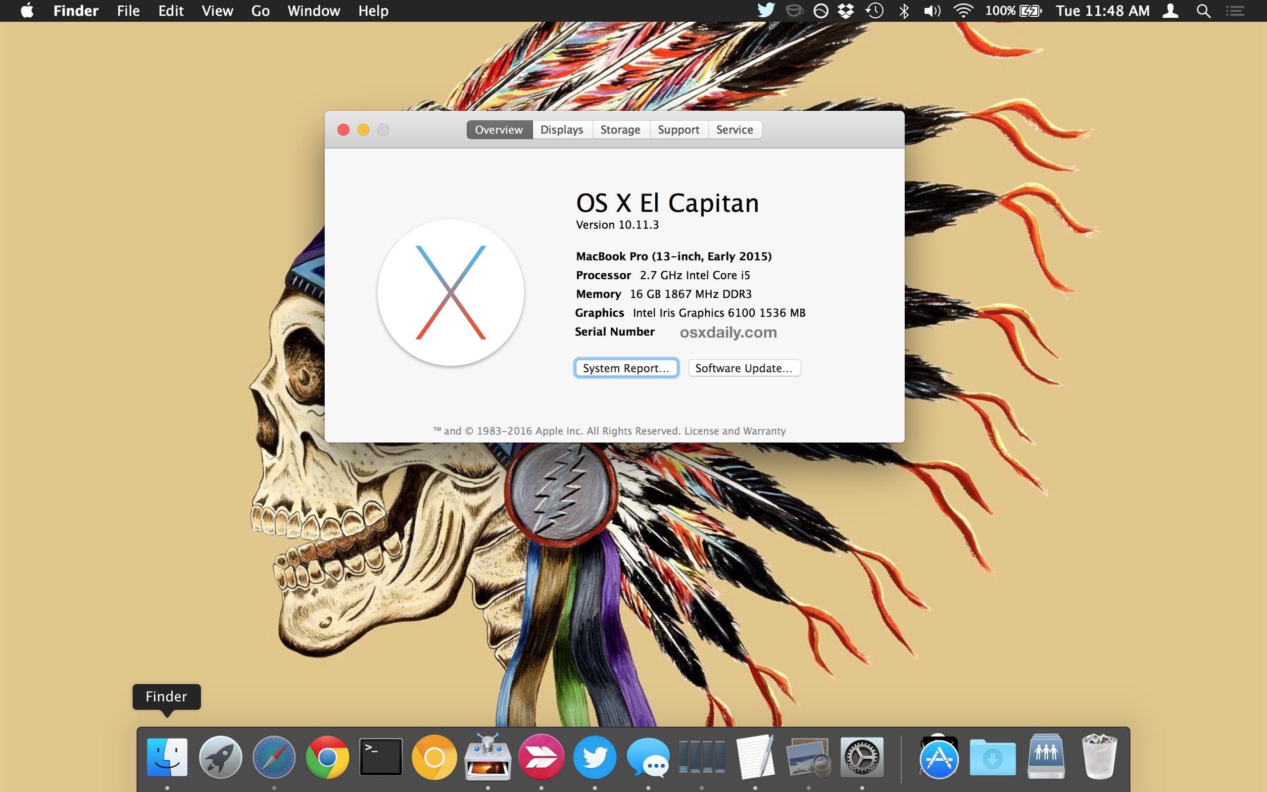 Freshly reinstalled OS X on a Mac