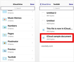Selecting a file to attach to email in Mail iOS from iCloud Drive