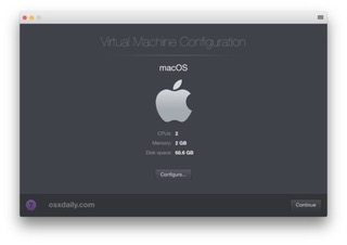 Create the Mac OS virtual machine