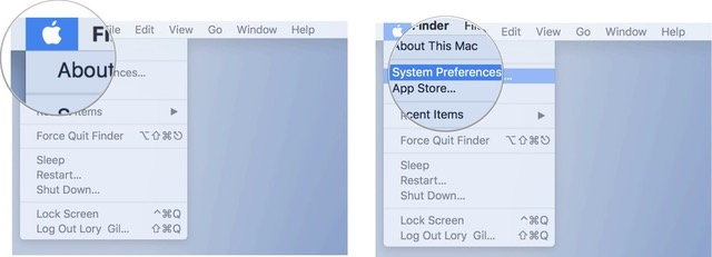 Click on the Apple icon, then click System Preferences