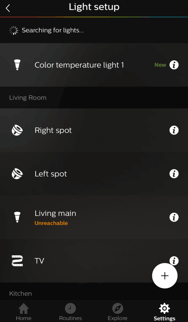 Adding Ikea bulbs to Hue added